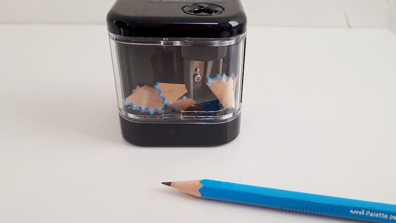 スピモで新品の鉛筆を削った
