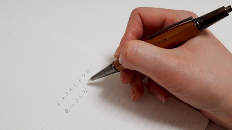 hacoa三角シャープペンシルを使ってみた