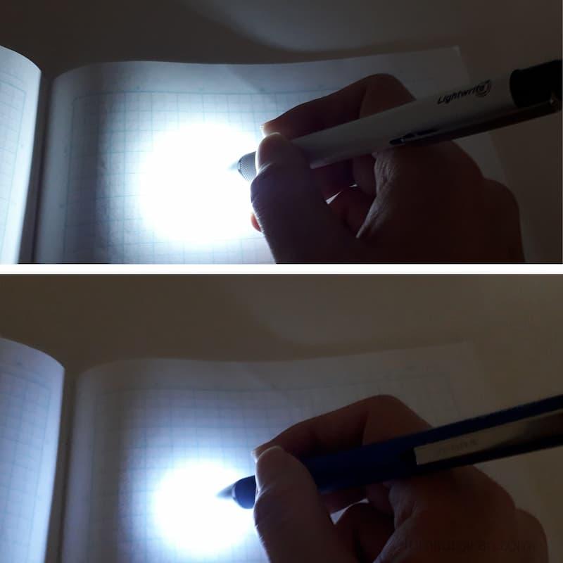 ライトライトα明るさ比較