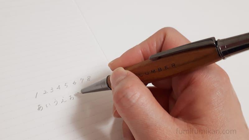 Hacoa三角軸シャーペン 正しく持つ