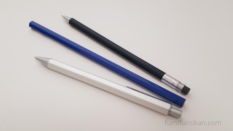無印アルミシャープペン サイズ比較
