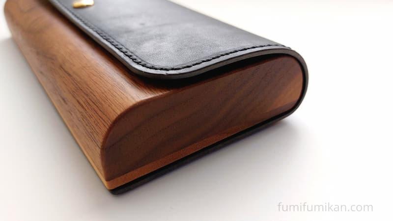 ハコア筆箱 横の木目も可愛い